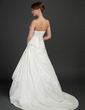 A-Line/Princess Sweetheart Court Train Taffeta Wedding Dress With Ruffle Beading (002015370)