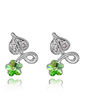Flower Shaped Alloy Crystal Ladies' Fashion Earrings (011037030)