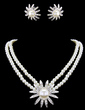 Elegant Alloy/Pearl With Rhinestone Women's Jewelry Sets (011016794)