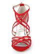 Women's Satin Stiletto Heel Sandals With Buckle Rhinestone (047020183)