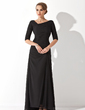 A-Line/Princess V-neck Asymmetrical Chiffon Evening Dress With Ruffle (017020812)