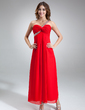 A-Line/Princess One-Shoulder Ankle-Length Chiffon Prom Dress With Ruffle Beading (018016852)