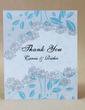 Personalized Floral Design Hard Card Paper Thank You Cards (Set of 50) (118029382)