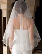 One-tier Waltz Bridal Veils With Lace Applique Edge (006036629)
