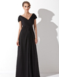 A-Line/Princess Off-the-Shoulder Floor-Length Chiffon Mother of the Bride Dress With Ruffle (008006416)