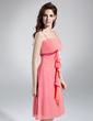 Empire Knee-Length Chiffon Bridesmaid Dress With Beading Cascading Ruffles (007001131)