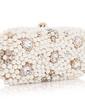 Fashional Satin With Imitation Pearl/Rhinestone Clutches (012039137)