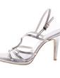 Women's Leatherette Stiletto Heel Sandals Pumps Peep Toe With Rhinestone shoes (087039119)