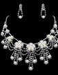 Elegant Alloy/Pearl With Rhinestone Women's Jewelry Sets (011019353)