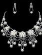 Elegant Alloy/Pearl With Rhinestone Women's Jewelry Sets (011019353)