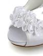 Satyna Szpilki Z Odkrytym Palcem Buty na Platformie Sandały Buty Ślubne Z Satynowy Kwiat (047011826)