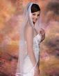 Einschichtig Walzer Braut Schleier mit Band Rand (006003952)