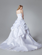 Ball-Gown Sweetheart Chapel Train Satin Wedding Dress With Embroidered Beading (002000459)