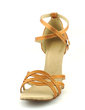 Women's Satin Heels Sandals Latin With Ankle Strap Buckle Dance Shoes (053016433)