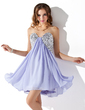 Empire Sweetheart Short/Mini Chiffon Homecoming Dress With Ruffle Sequins (022020840)