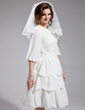 Two-tier Shoulder Veils With Lace Applique Edge (006021303)