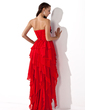 A-Line/Princess Sweetheart Asymmetrical Chiffon Prom Dress With Beading Cascading Ruffles (018004808)