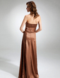 A-Line/Princess Strapless Floor-Length Charmeuse Bridesmaid Dress With Ruffle (007001882)