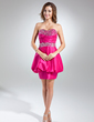 A-Line/Princess Sweetheart Short/Mini Taffeta Cocktail Dress With Ruffle Beading (016015590)