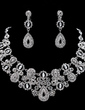 Elegant Alloy With Rhinestone Women's Jewelry Sets (011019389)