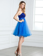 Empire Sweetheart Short/Mini Tulle Homecoming Dress With Beading Sequins (022004622)