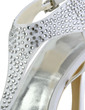 Women's Silk Like Satin Cone Heel Sandals Slingbacks With Buckle Rhinestone (047028554)