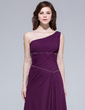 A-Line/Princess One-Shoulder Floor-Length Chiffon Bridesmaid Dress With Ruffle Beading (007037305)