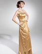 A-Line/Princess Floor-Length Charmeuse Evening Dress With Ruffle Beading Sequins (017014689)