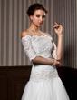 Half-Sleeve Lace Wedding Wrap (013020080)