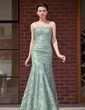 Trumpet/Mermaid Sweetheart Floor-Length Taffeta Lace Mother of the Bride Dress With Beading Sequins (008018957)
