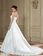 Ball-Gown One-Shoulder Chapel Train Satin Wedding Dress With Ruffle Lace Beading (002000606)