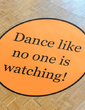 Personalized Simple Design PVC Dance Floor Decals (118033751)