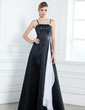 A-Line/Princess Floor-Length Satin Mother of the Bride Dress With Sash Beading Cascading Ruffles (008003185)