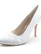 Women's Satin Stiletto Heel Closed Toe Pumps (047054640)