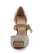 Suede Stiletto Heel Sandals Platform Peep Toe With Rhinestone Buckle shoes (085026646)