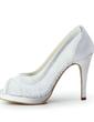 Bağcık Saten Külah Topuk Burnu Açık Platform Sandalet Düğün Ayakkabıları (047011847)