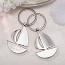Personalized Sailboat Stainless Steel Keychains (Set of 4)