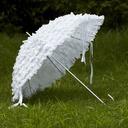 White Lace Wedding Umbrellas