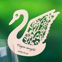 Swan Design Pearl Paper Place Cards (set of 12)