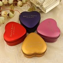 Personalized Heart-shaped Tins Favor Tin (Set of 24) (Personalized information is only English)