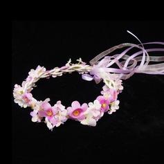 Elegant Artificial Silk Flowers & Feathers/Headbands