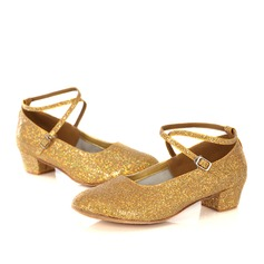 Women's Sparkling Glitter Pumps Latin Modern With Buckle Dance Shoes
