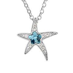 Starfish Alloy Crystal Ladies' Fashion Necklace