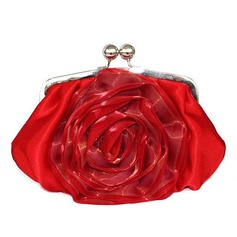 Gorgeous Satin With Flower Clutches