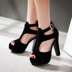 Femmes Similicuir Talon stiletto Sandales avec Ouvertes chaussures