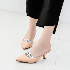 Dla kobiet Skóra Lakierowana Obcas Stiletto Czólenka Zakryte Palce Z Elastic Band obuwie