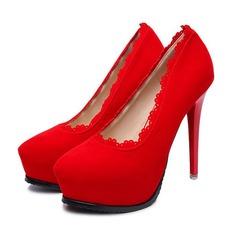 Femmes Suède Talon stiletto Escarpins Plateforme Bout fermé avec Plissé chaussures