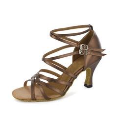 Donna Similpelle Tacchi Sandalo Latino con Listino alla caviglia Scarpe da ballo