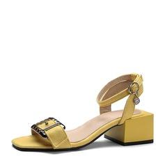 Femmes Suède Talon bottier Sandales À bout ouvert avec Boucle chaussures