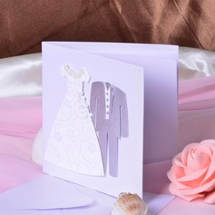 Groom Bride & Style Fold Side Invitation Cards